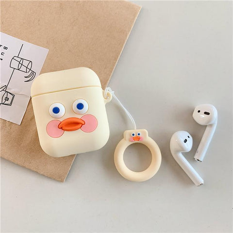 Cartoon Duck Airpods Case