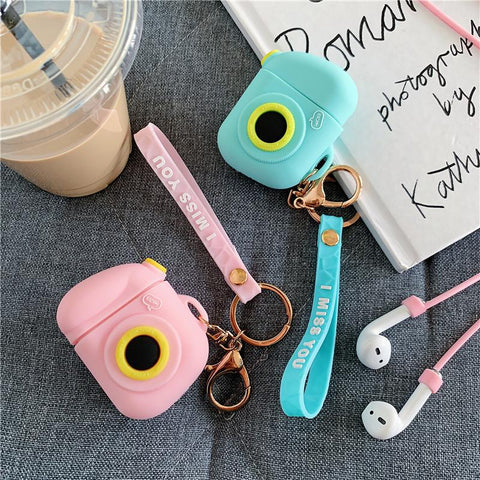 Cute Camera Airpods Case
