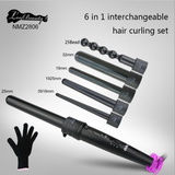 6 in 1 Hair Curler With 6 Interchangeable Curler Set