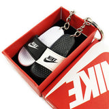 Slipper Black/White Mini Sneaker(Tiny Sneaker) Keychain