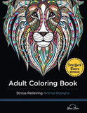 Adult Coloring Book: Stress Relieving Animal Designs