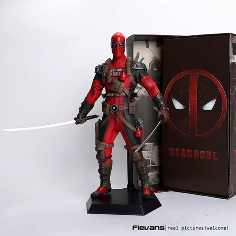 Crazy Toys Deadpool PVC Action Figure Collectible Model Toy 12\ 30cm red / sliver HRFG516
