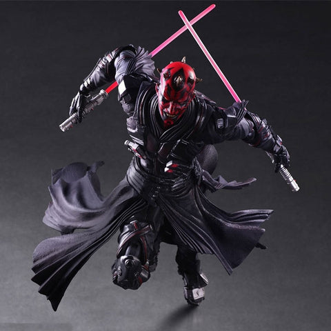 New Play Arts Star War Darth Maul PA Black Knight Darth Vader Imperial Stormtrooper 27cm PVC Action Figure Doll Toys Kids Gift (Color: Red)