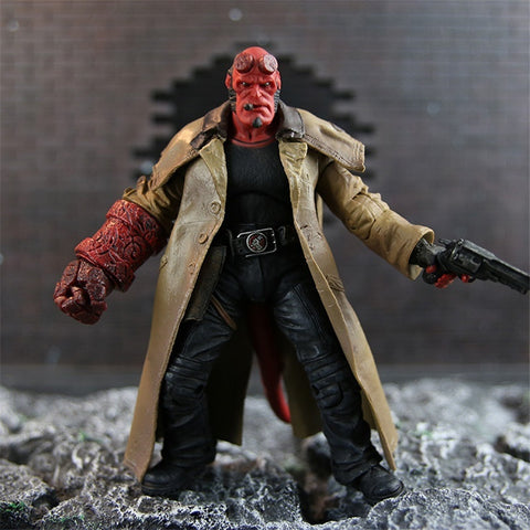 New Japanese Anime 2 Styles 18cm MEZCO Hellboy PVC Exquisite Action Figure Collectible Model Toy