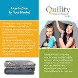 "Quility Premium Kids Weighted Blanket & Removable Cover | 05 lbs | 36""x48"" 