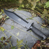 MOSSY OAK Survival Knife 10-inch Fixed Blade Hunting Bowie Knife with Sharpener and Fire Starter