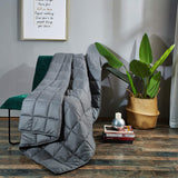 Weighted Blanket(15 lbs, 48''x72'', Twin Size), Blanket with 100% Cotton Material and Glass Beads-Dark Grey