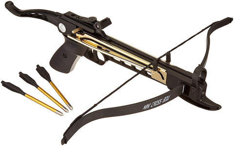 Ace Martial Arts Supply Cobra System Self Cocking Pistol Tactical Crossbow, 80-Pound