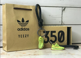 "Yeezy Boost 350 V2 ""Semi Frozen Yellow"" 3D Mini Sneaker Keychain with Box and Bag"