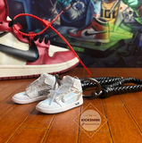 3D mini sneaker nike Air Jordan 1 OFF WHITE 1:6 white