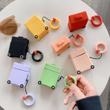 Colorful Square Suitcase Airpods Case