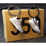 "Yeezy Boost 350 V2 ""Zebra"" 3D Mini Sneaker Keychains with Box and Bag"