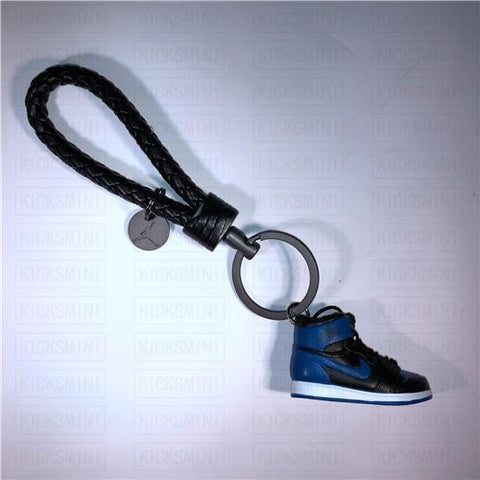 "Handcrafted AJ1 ""Royal"" 3D Keychain with Box and Bag"