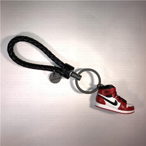 "Handcrafted AJ1""Chicago"" 3D Keychain with Box and Bag"