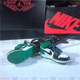 "Handcrafted AJ1 ""Defining Moments Celtics"" 3D Keychain with Box and Bag"