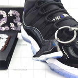"Handcrafted AJ11 ""Space Jam"" 3D Keychain with Box and Bag"