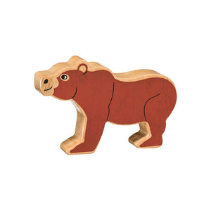 Natural Wooden Brown Bear
