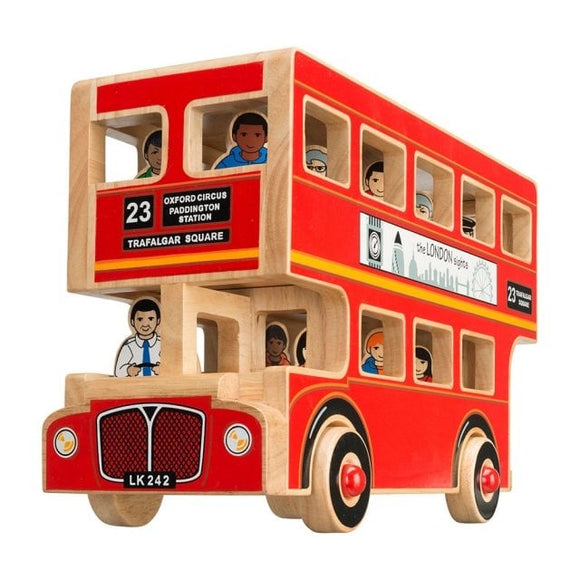 Deluxe Wooden London Bus