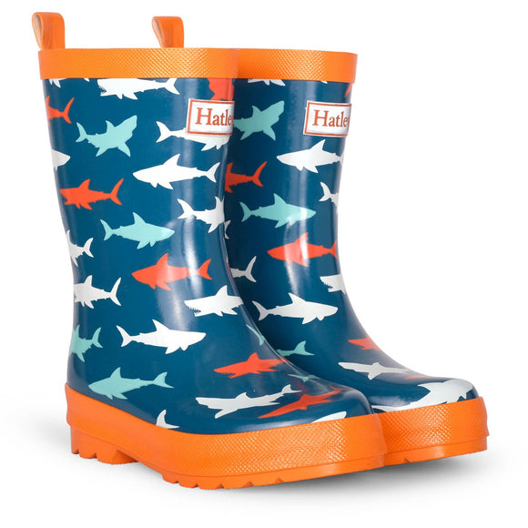 Great White Shark Shiny Rain Boots
