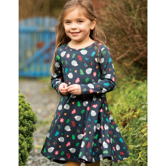 Sofia Skater Dress, Hedgehogs