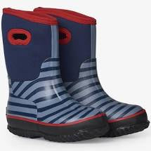 Blue Striped All Weather Boots
