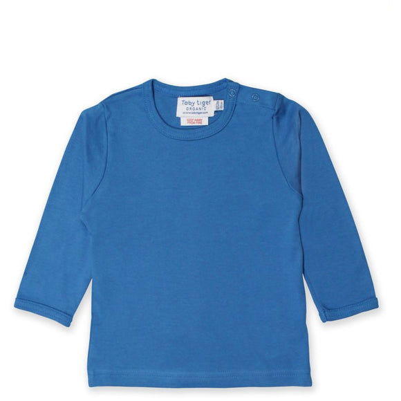 Organic Basic LS Top, Blue