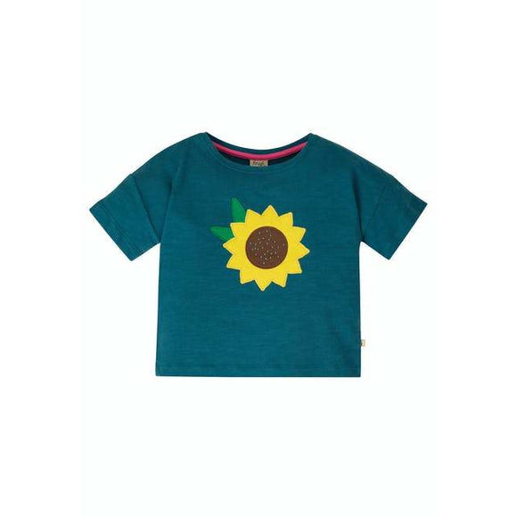Myla T-Shirt, Steely Blue/Flower