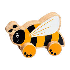 Bee Wooden Push Along