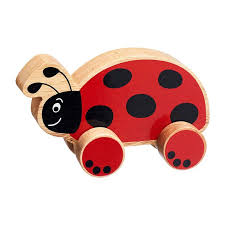 Ladybird Wooden Push Along