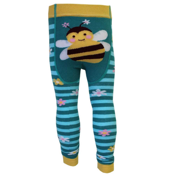 Knitted Leggings/Footless Tights, Bumblebee