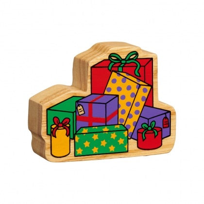 Natural Wooden Stack of Presents