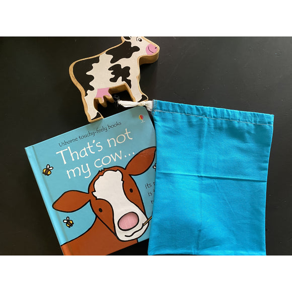 That's Not My Cow Board Book, 1 Wooden Characters & Bag
