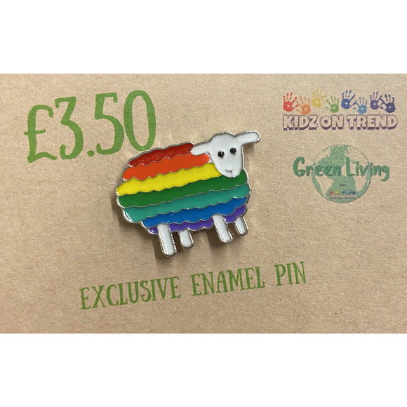 Exclusive Enamel Pin - Rainbow Sheep