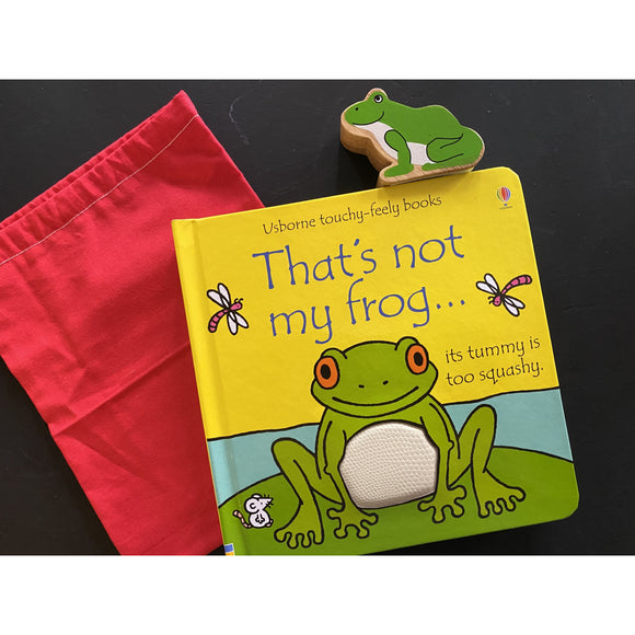 That's Not My Frog Board Book, 1 Wooden Characters & Bag