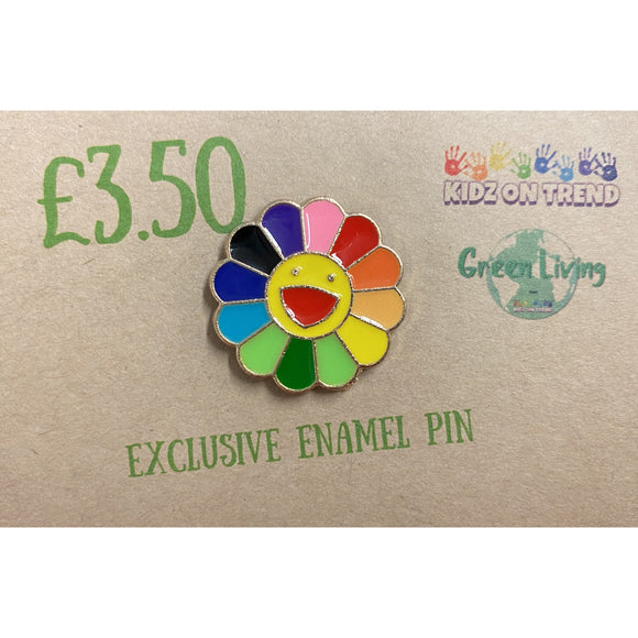 Exclusive Enamel Pin - Rainbow Flower