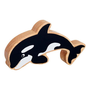 Natural Wooden Black & White Orca
