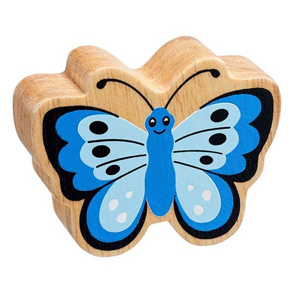 Natural Wooden Blue Butterfly