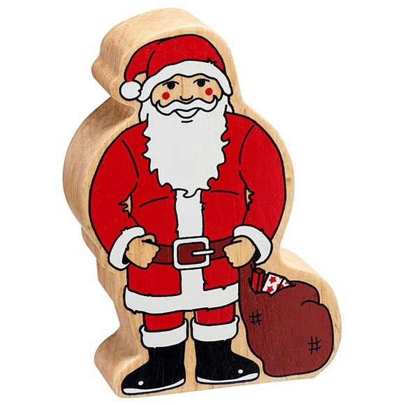 Natural Wooden Red & White Father Christmas
