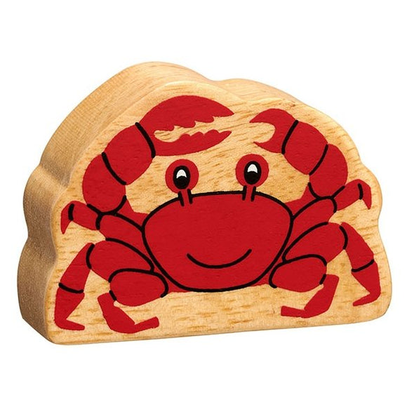 Natural Wooden Red Crab
