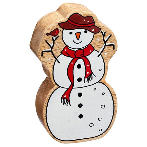 Natural Wooden Snowman *Christmas