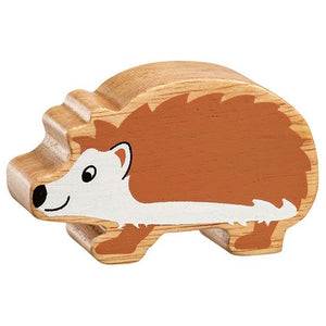 Natural Wooden Brown & White Hedgehog
