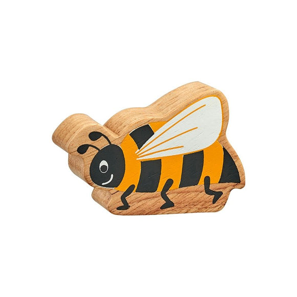 Natural Wooden Black & Yellow Bee