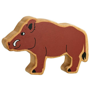 Natural Wooden Brown Wild Boar