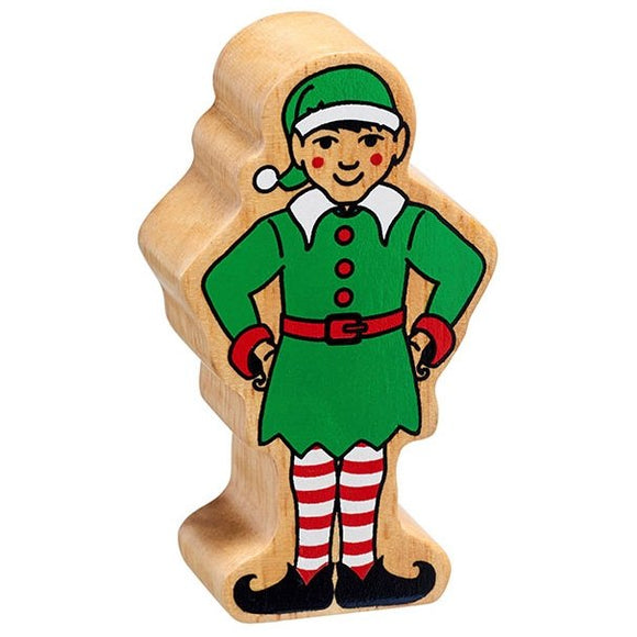 Natural Wooden Green Elf *Christmas