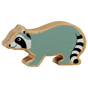 Natural Wooden Grey Racoon
