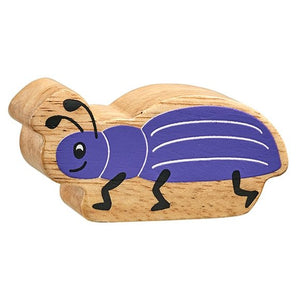 Natural Wooden Purple Beetle