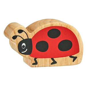 Natural Wooden Red & Black Ladybird
