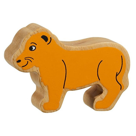 Natural Wooden Yellow Lion Cub
