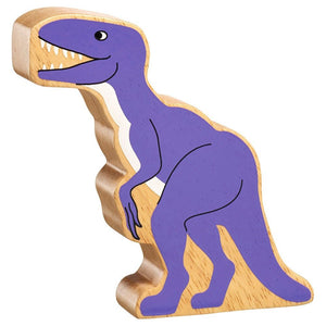 Natural Wooden Purple Velociraptor