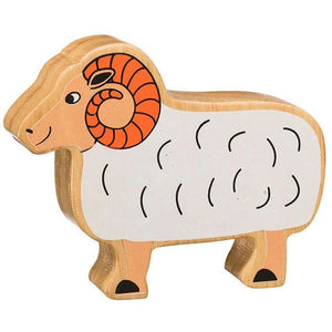 Natural Wooden White Ram